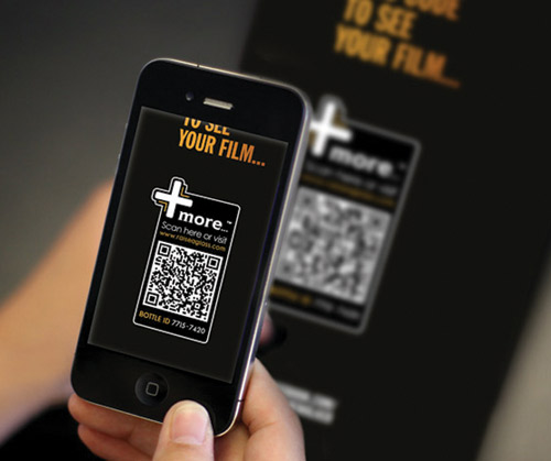For +More Father's Day promo, buyers send a video message to Dad by scanning with their phone.