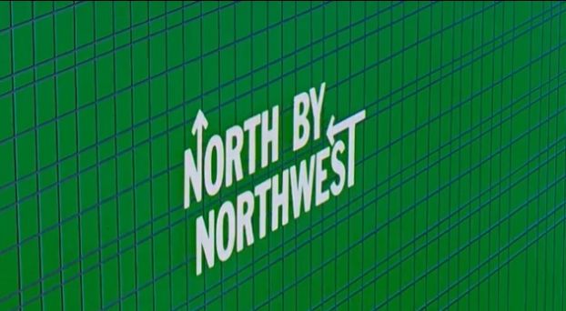 Still from North By Northwest titles