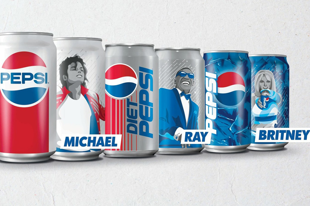 Michael Jackson Ray Charles Britney Spears On Pepsi Cans Cmo