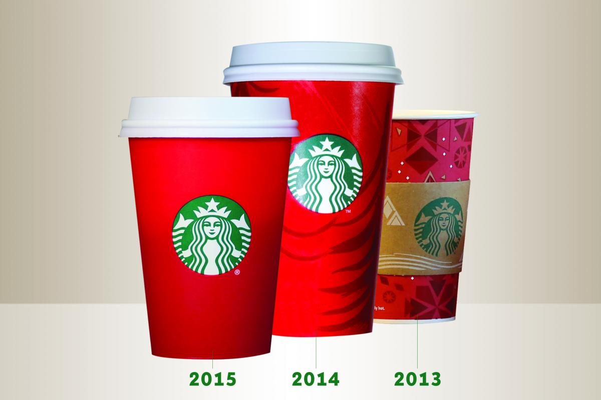 starbucks stirs up a little controversy with 2015 red cups cmo strategy ad age - Starbuck Christmas Cups