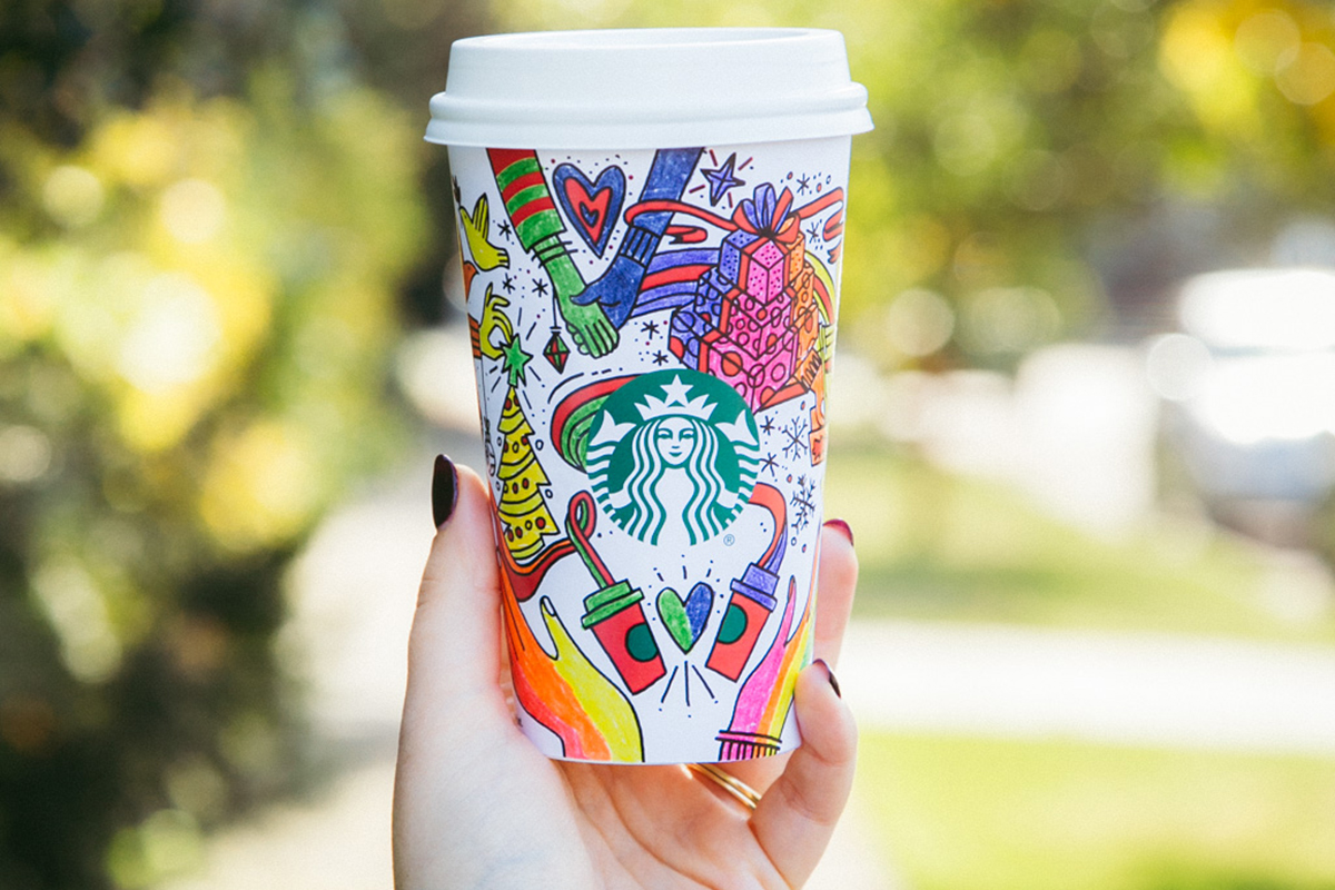 starbucks 2017 holiday cups are meant for coloring cmo strategy ad age