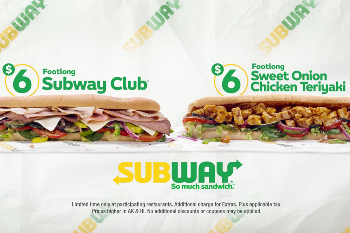 Subway footlong fest