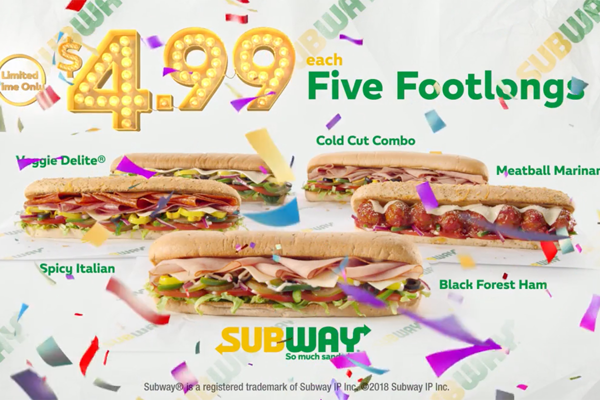 forget subway s 5 footlong it s 4 99 for now cmo strategy