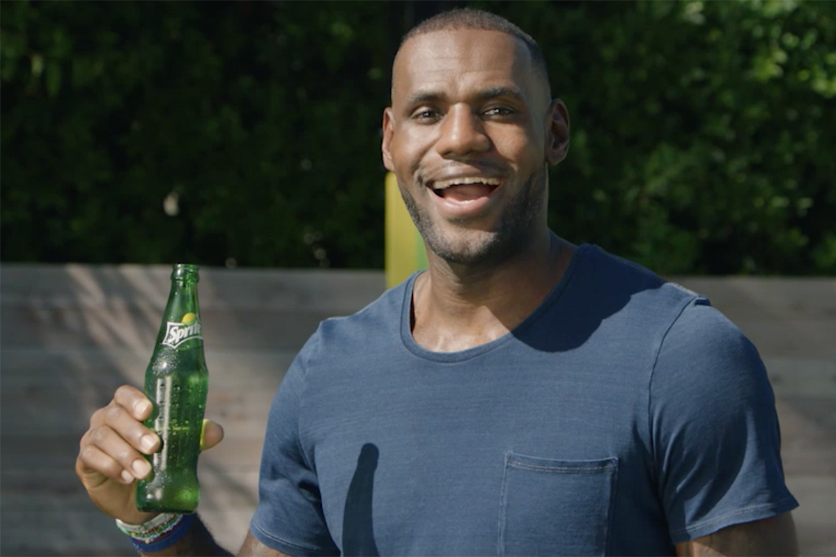 Lebron James Does Not Tell Fans To Drink Sprite In New Ads Cmo