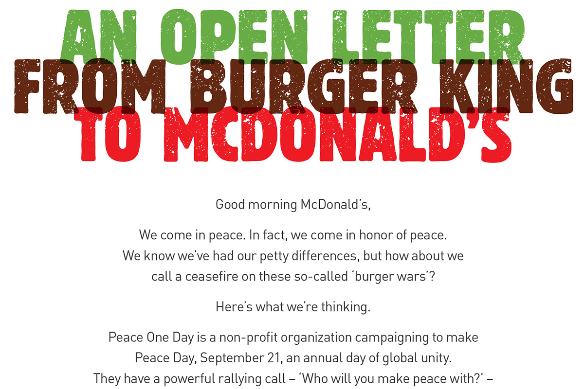 McWhopper Wins Print, a Category \'Trying to Find Its Feet\' | Special ...