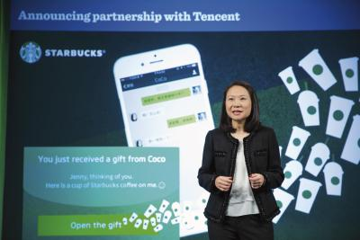 Starbucks began accepting WeChat pay in China last month.