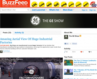 'The GE Show' on Buzzfeed
