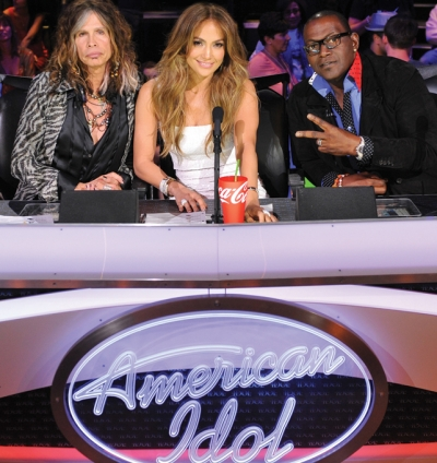 A standard sight for years: Coca-Cola in front of judges on 'American Idol.'