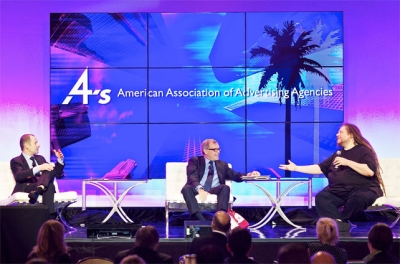 Group M CEO Rob Norman moderated the opening session at the 4A's Transformation LA Conference with a panel discussion featuring WPP CEO Sir Martin Sorrell and Microsoft Research Partner Architect Jaron Lanier.