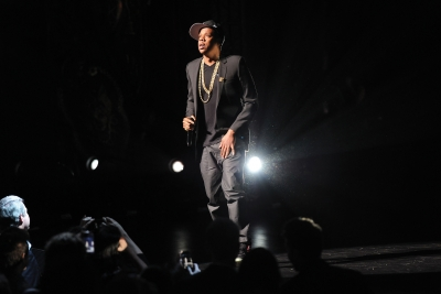 Jay Z performed at YouTube's NewFronts event in 2012.
