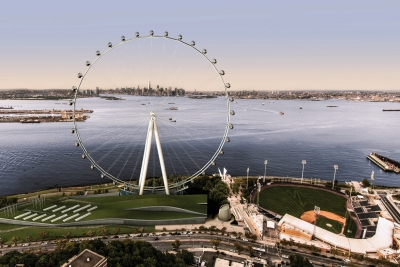 A rendering of the planned New York Wheel