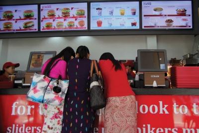 International fast food is now emerging in Myanmar.