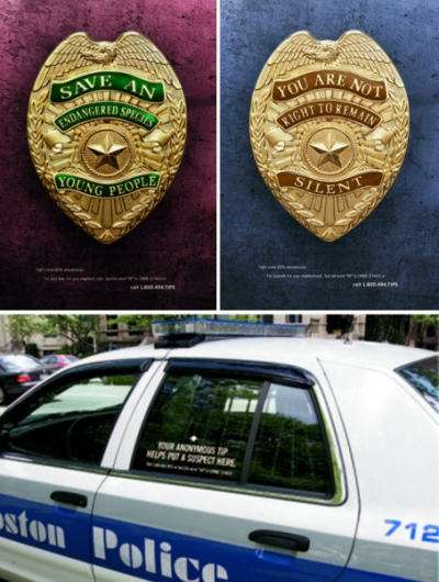 A campaign that included police cruisers spread the message.