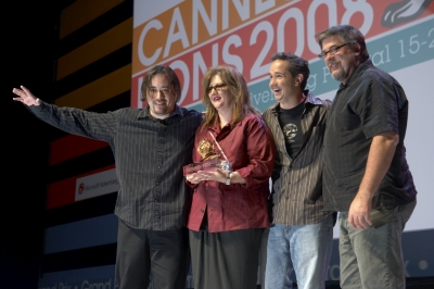 42 Entertainment accept the viral advertising Grand Prix for Trent Reznor's Year Zero interactive caampaign.