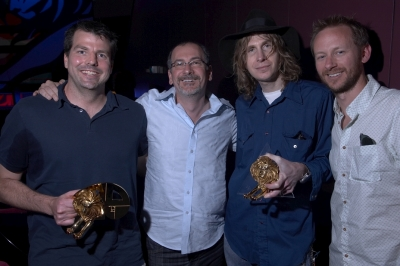The BBDO, NY crew poses with their hardware.