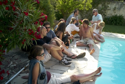 Pool Party at the Hungry Man's villa.