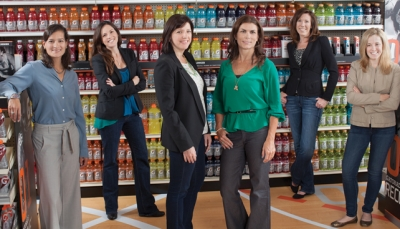 Some Gatorade leaders include, from left, Janice Chopra, Molly Carter, Morgan Flatley, Andrea Fairchild, Mary Doherty and Heather Smith.