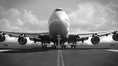 Delta's new ads feature lush black-and-white images and the voice of Donald Sutherland.