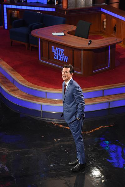 Stephen Colbert during the premiere of 'The Late Show With Stephen Colbert' on CBS.