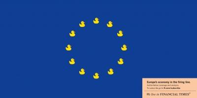 FT ad: Eurozone as sitting ducks