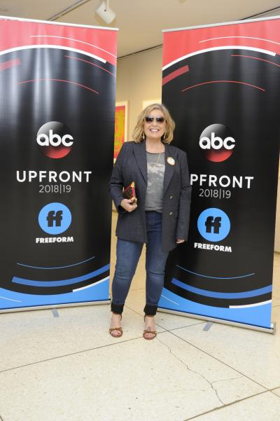 Roseanne Barr as ABC and Freeform prepare to present their new lineups for the 2018-2019 season to the advertising and media communities at Lincoln Center in New York City.
