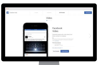 Facebook's new online Creative Hub.