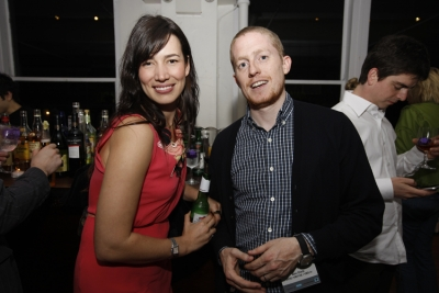 Epoch Films rep Stephanie Hodge and Vice's director of business development Ben Dietz