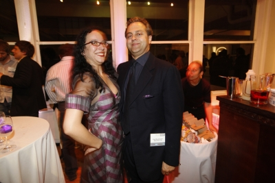 , The Barbarian Group's PR head Eva McCloskey and Paul Woolmington, co-founder of Naked Communications