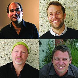 From left: Glenn Cole, Greg Perlot, John Boiler and Robert Nakata