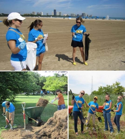 Starcom USA staffers cleaned up Chicago parks for Starcom Serves community service day.