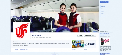 Air China worked with Swedish shop Rodolfo to build a presence on Facebook.