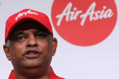 AirAsia Group Chief Executive Officer Tony Fernandes said he was flying to Surabaya, Indonesia with the airline's management.