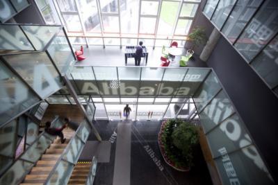 Inside Alibaba's headquarters in Hangzhou, China.