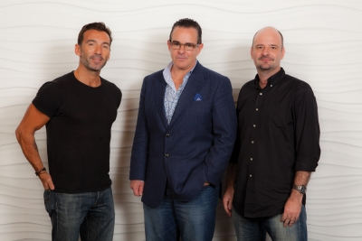 From left: Alvar Sunol, executive creative director; Luis Miguel Messianu, president and chief creative officer; Isaac Mizrahi, managing director