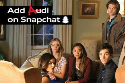 Audi tied TV advertising and a Snapchat game to 'Pretty Little Liars' and Twitter.
