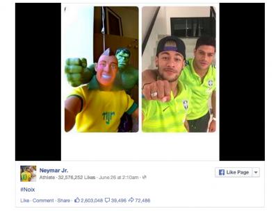 Brazil players Neymar and Hulk