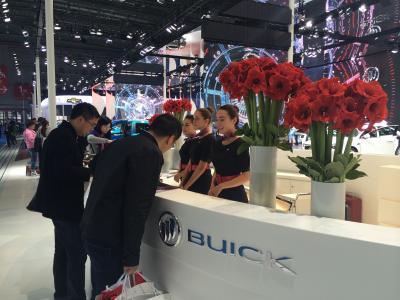 Buick's hostesses at Auto Shanghai.