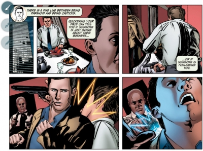 A page from the 'Burn Notice' digital graphic novel
