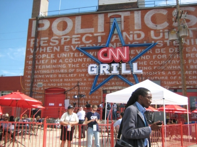 The CNN Grill at the Democrats' 2008 convention in Denver