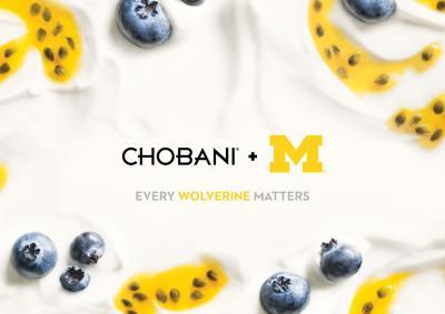 University of Michigan Chobani Branding