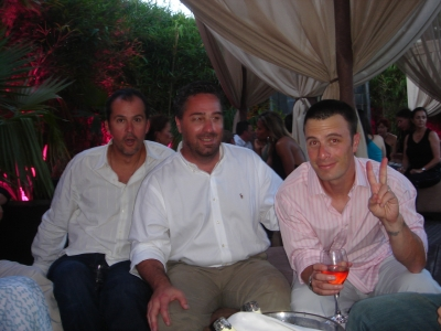 Team One's Chris Graves and Saatchi's Steve Chavez and Greg Wells