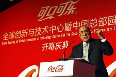 Coke President-CEO Muhtar Kent spoke in Shanghai on March 6.