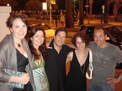 One last lap around the Carlton terrace: Ad Age's Brooke Capps and Tracey Vitale; Creativity/Adcritic's Adam Gold; R/GA's Karen Spiegel; and Ad Age Group honcho Scott Donaton