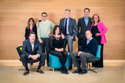 Clockwise: Jan Weinstein, exec VP-managing director; Ed Gorman, exec VP-managing director; Doug Ray, global president, Carat; Will Swayne, exec director, East Coast; Donna Wiederkehr, global chief marketing officer; Michael Epstein, chief strategy Officer; Michelle Lynn, exec. VP-managing director; Andy Donchin, exec VP-director of media investments