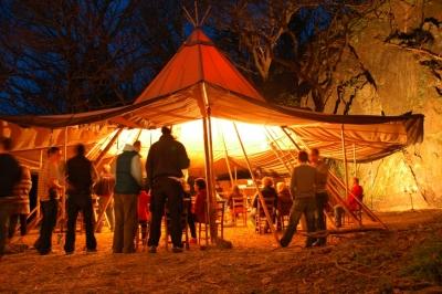 The central Little Big Voice yurt.