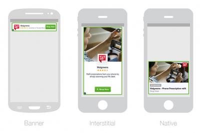 Apps in Facebook's mobile ad net can show ads in three different placement types.