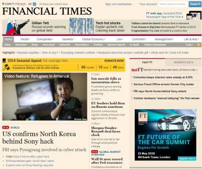 The Financial Times website.