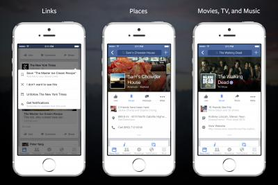 Facebook's new read-it-later tool, Save.