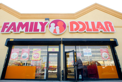 Family Dollar plans to open 450 to 500 stores in fiscal 2012, including its first California location.