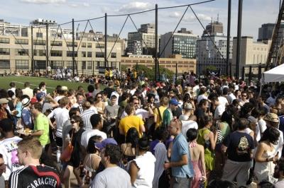 Adidas Fanatic NYC crowd
